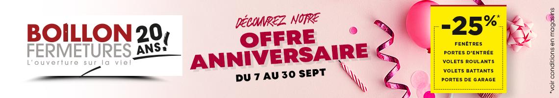 Boillon Fermetures, 20 ans d'ouverture sur la vie !